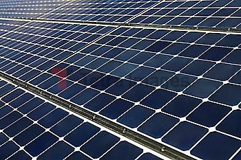 Full frame of solar panel
