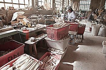 Carpenter working in woodshop