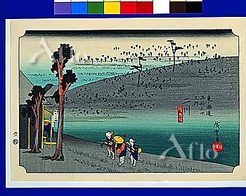 Utagawa Hiroshige, The Fifty-three Stations of the Tokaido, Futagawa,