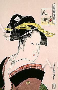 Koumei Bijin Rokkasen, An Anthology of Six Famous Beauties, Kitagawa Utamaro, Japanese Wood Block Print