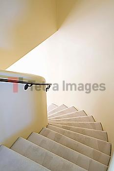 White Curved Stairwell