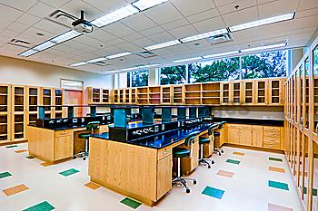 Science lab classroom at college, Florida