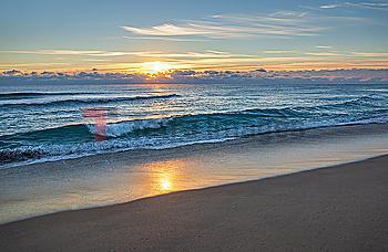 Waves on beach in Boca Raton, Florida