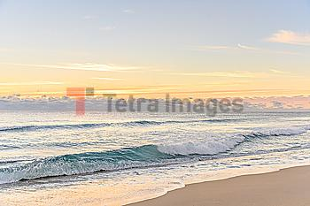 Waves on beach in Boca Raton, Florida
