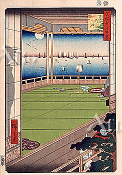 Utagawa Hiroshige, One Hundred Famous Views of Edo, Moon Promentory,