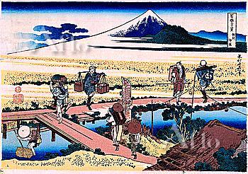 Nakahara In Sagami Province, Thirty-Six Views Of Mt. Fuji, Hokusai
