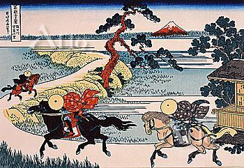 Barrier Town On The Sumida River, Thirty-Six Views Of Mt. Fuji, Hokusai