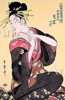 Toji zensei bijin-zoroi, A Set of Great Beauties of the Present Day, Kitagawa Utamaro, Japanese Wood Block Print