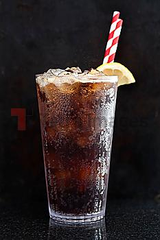 Close up of glass of soda
