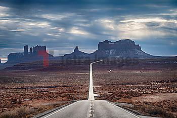 Road through Monument Valley, Utah, USA