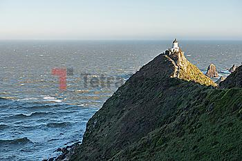 Lighthouse on Nugget Point in Otago, New Zealand