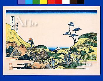 Below Meguro, Thirty-Six Views Of Mt. Fuji, Hokusai
