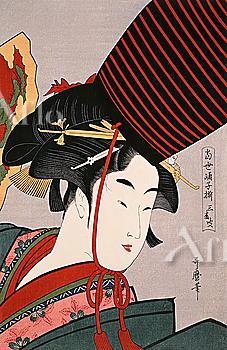 Kitagawa Utamaro, Japanese Wood Block Print