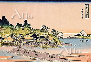 Enoshima In Sagami Province, Thirty-Six Views Of Mt. Fuji, Hokusai
