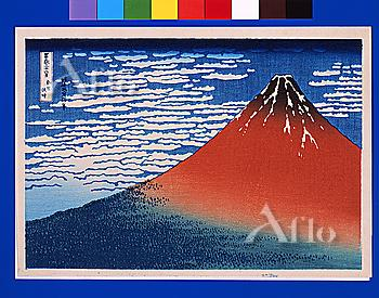 South Wind, Clear Sky (Also Known As Red Fuji), Thirty-Six Views Of Mt. Fuji, Hokusai