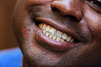 Close up of Black man smiling