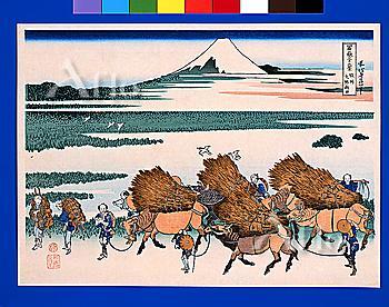 ono Shinden In The Suruga Province, Thirty-Six Views Of Mt. Fuji, Hokusai