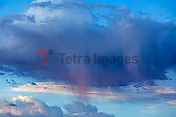 Cloudscape with rain clouds