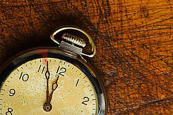 Old-fashioned pocket watch, studio shot