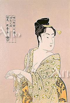 Fujin sougaku juttai, Ten Studies in Female Physiognomy, Kitagawa Utamaro, Japanese Wood Block Print