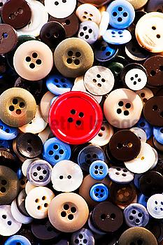 Close up of colorful buttons, studio shot