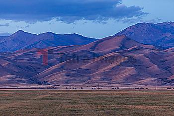 Mountains under cloud in Fairfield, Idaho, USA