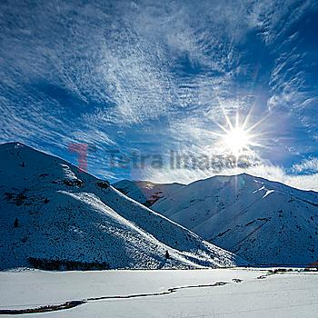 Snow covered mountains in Bellevue, Idaho, USA