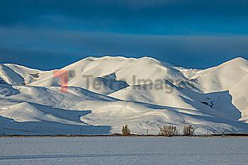Snow capped mountain in Picabo, Idaho