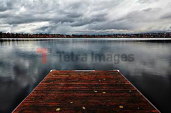 Jetty on Green Lake in Seattle, Washington