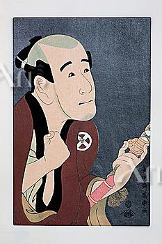 Toshusai Sharaku, Japanese Wood Block Print