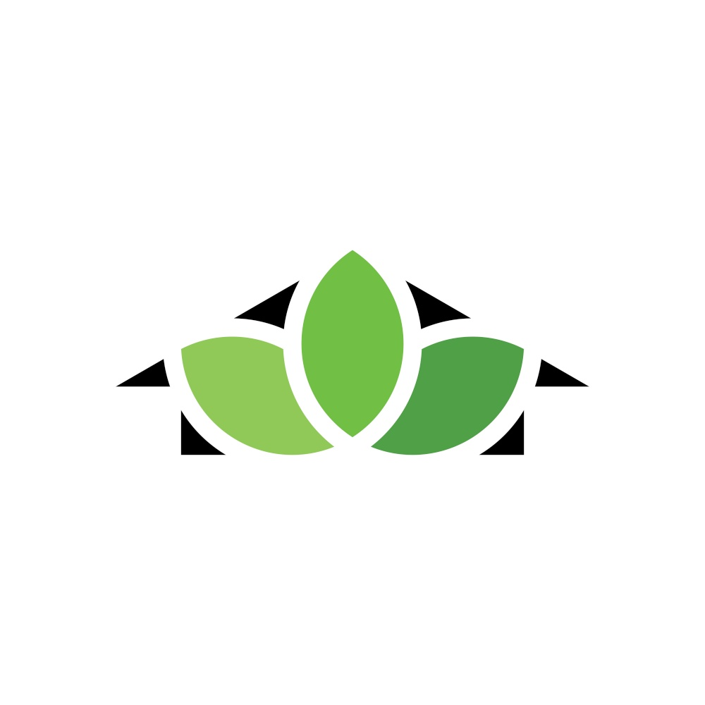 house and leaves logo icon symbol
