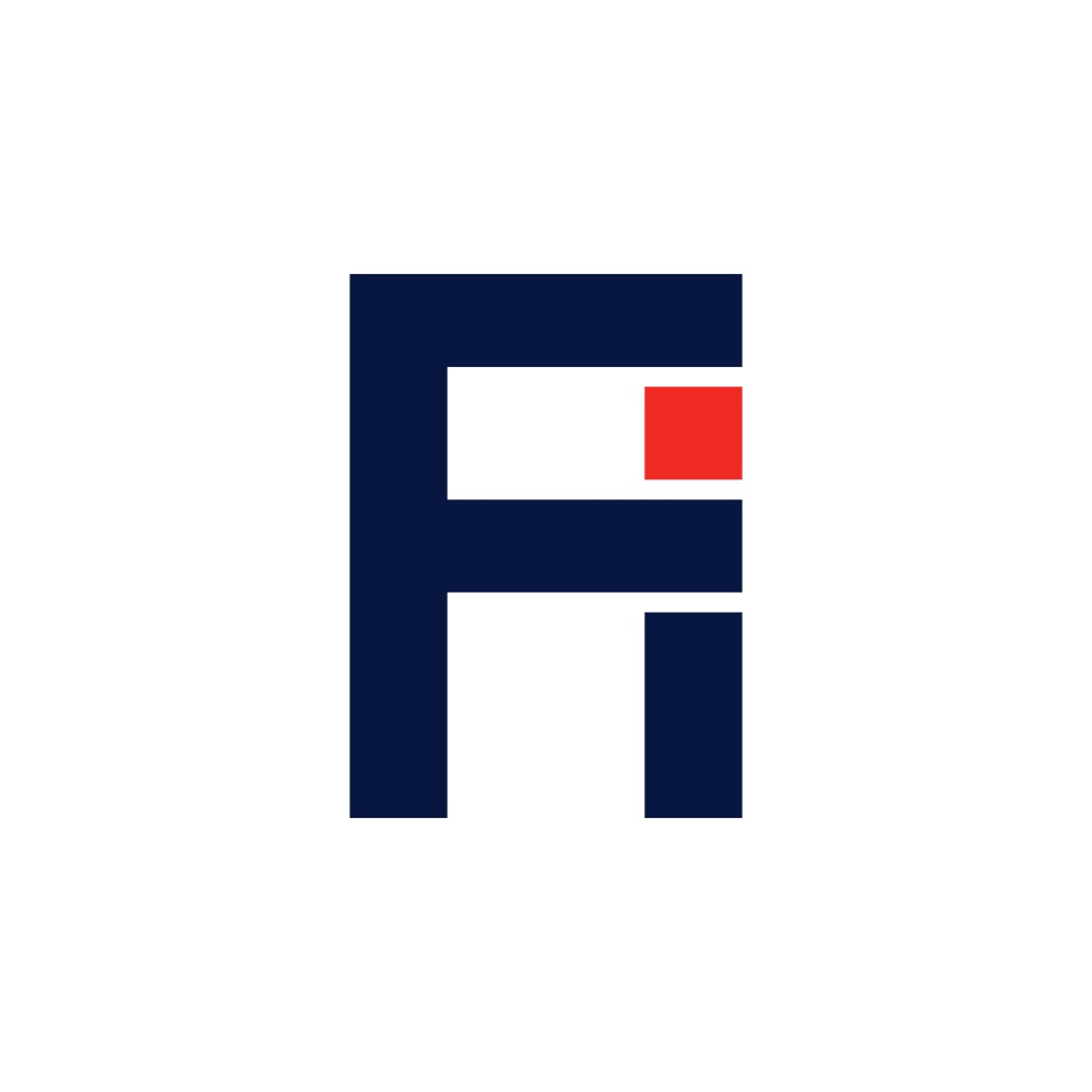 letter f and i fi logo icon vector