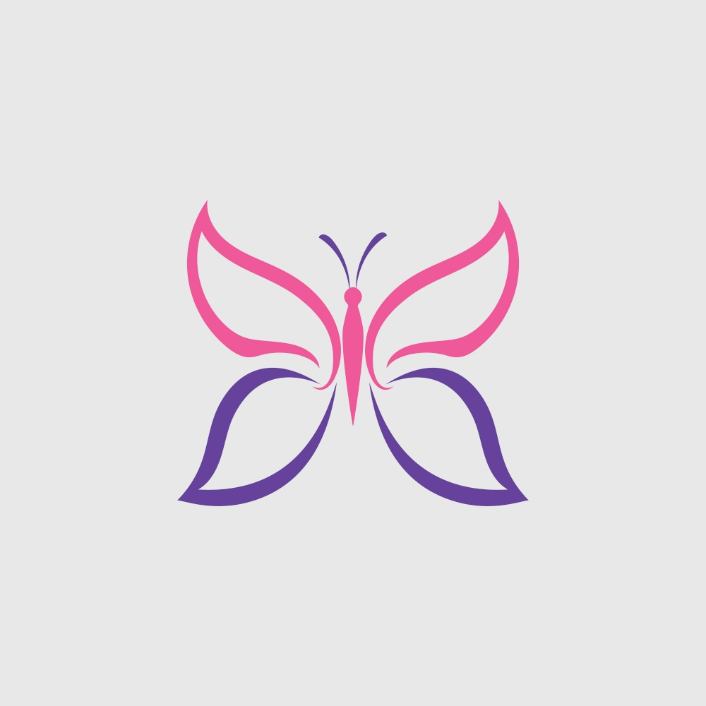 Butterfly logo Vector icon design
