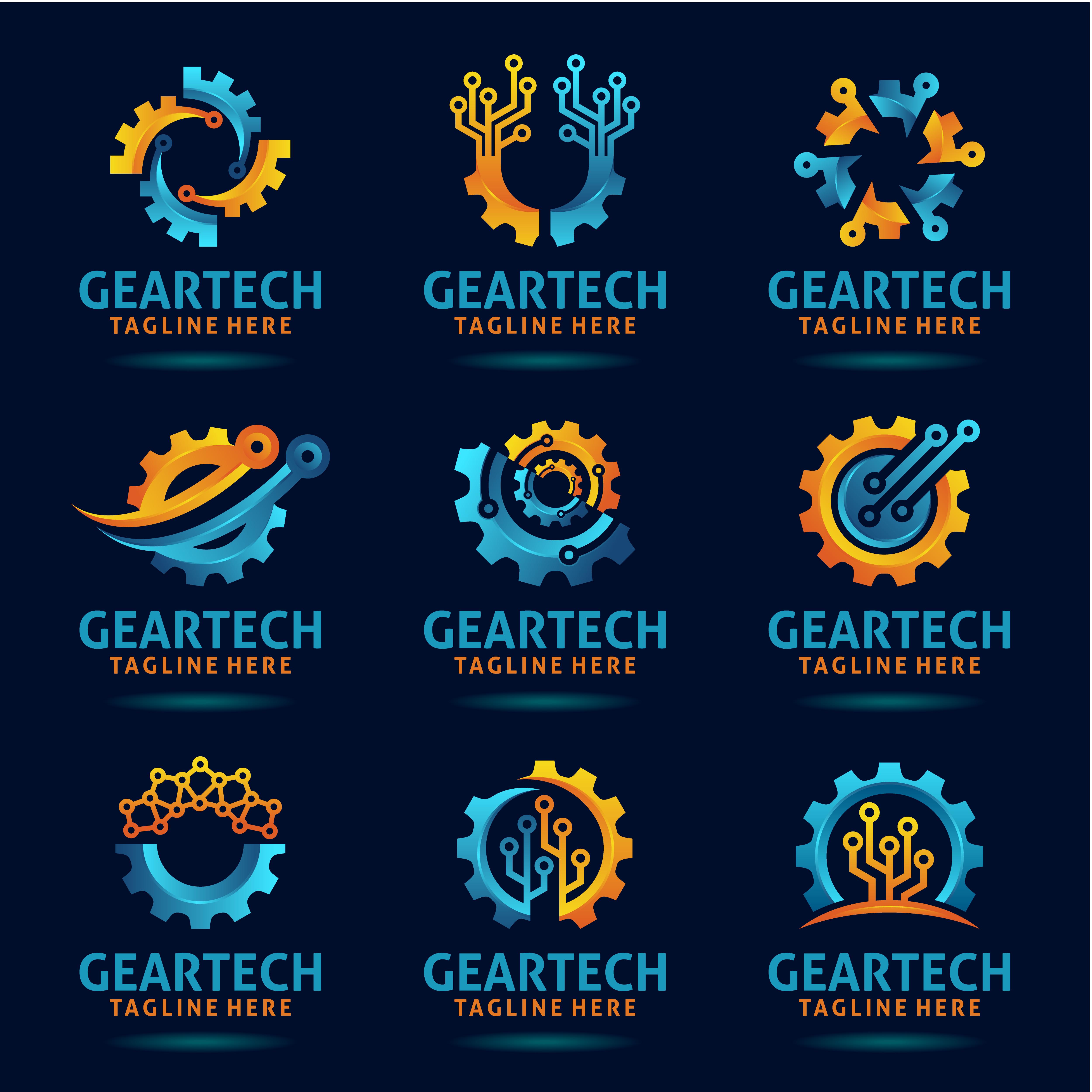 Set of gear technology logo