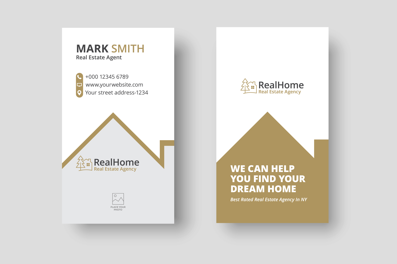 real estate logo business card