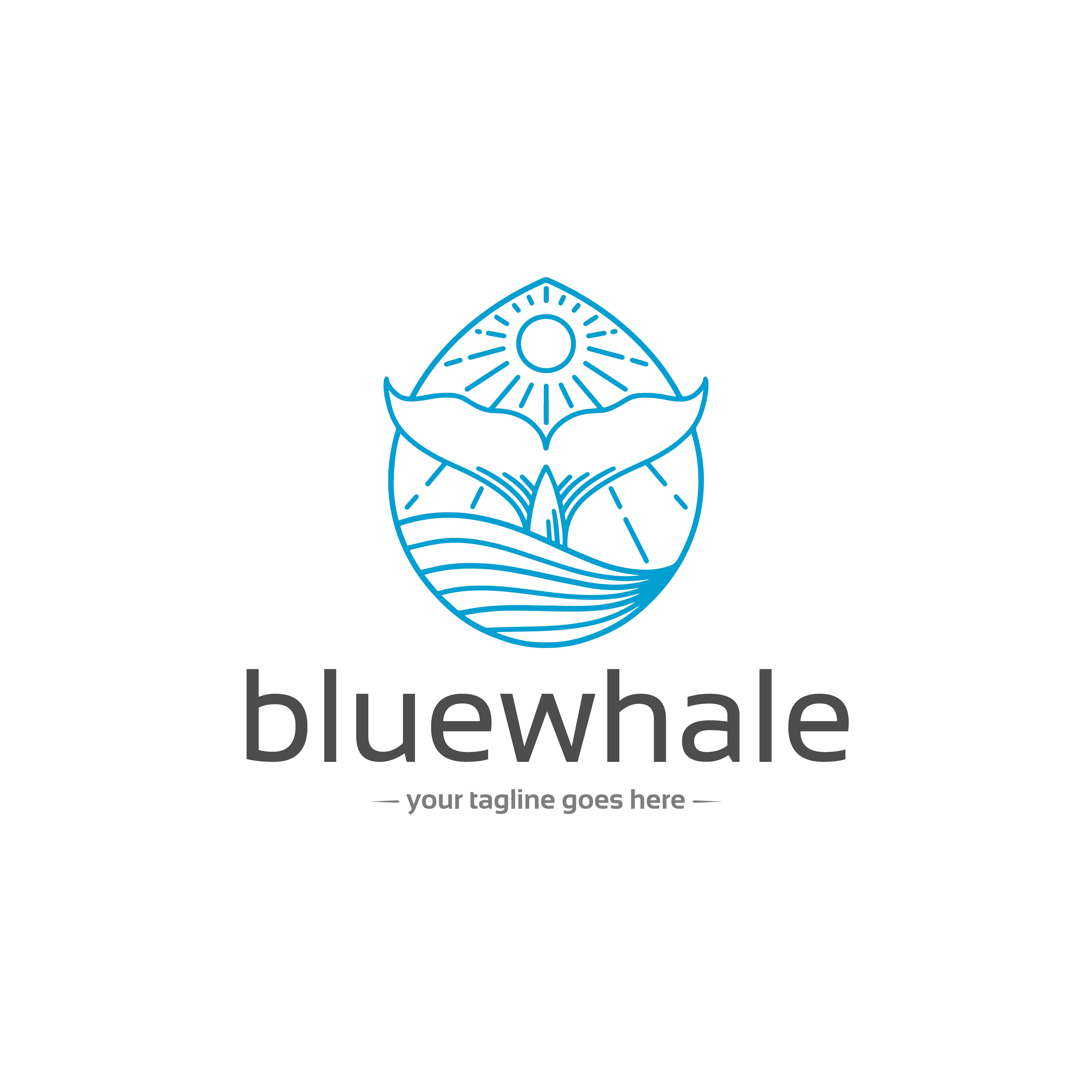 blue whale icon logo