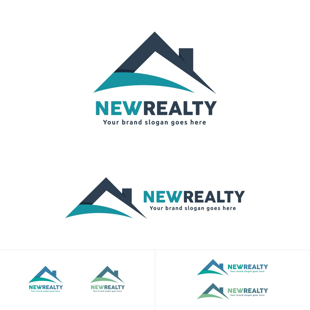 Real Estate Logo House Roof Symbol, Residential Brand