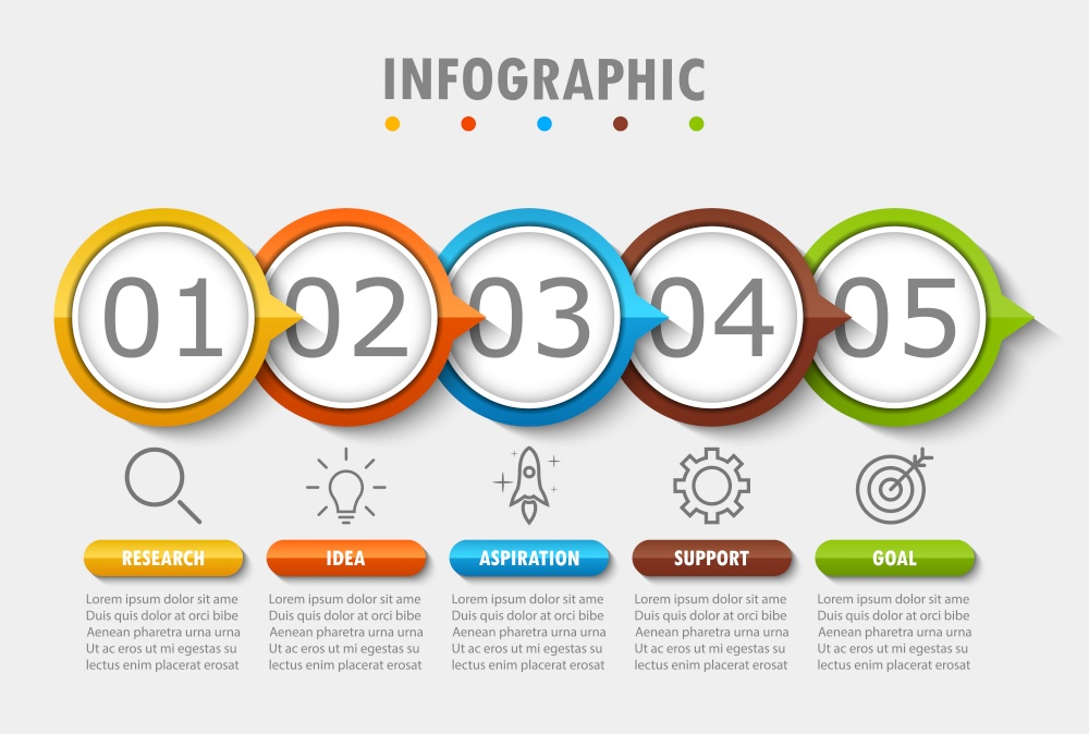 Infographic modern for visualization