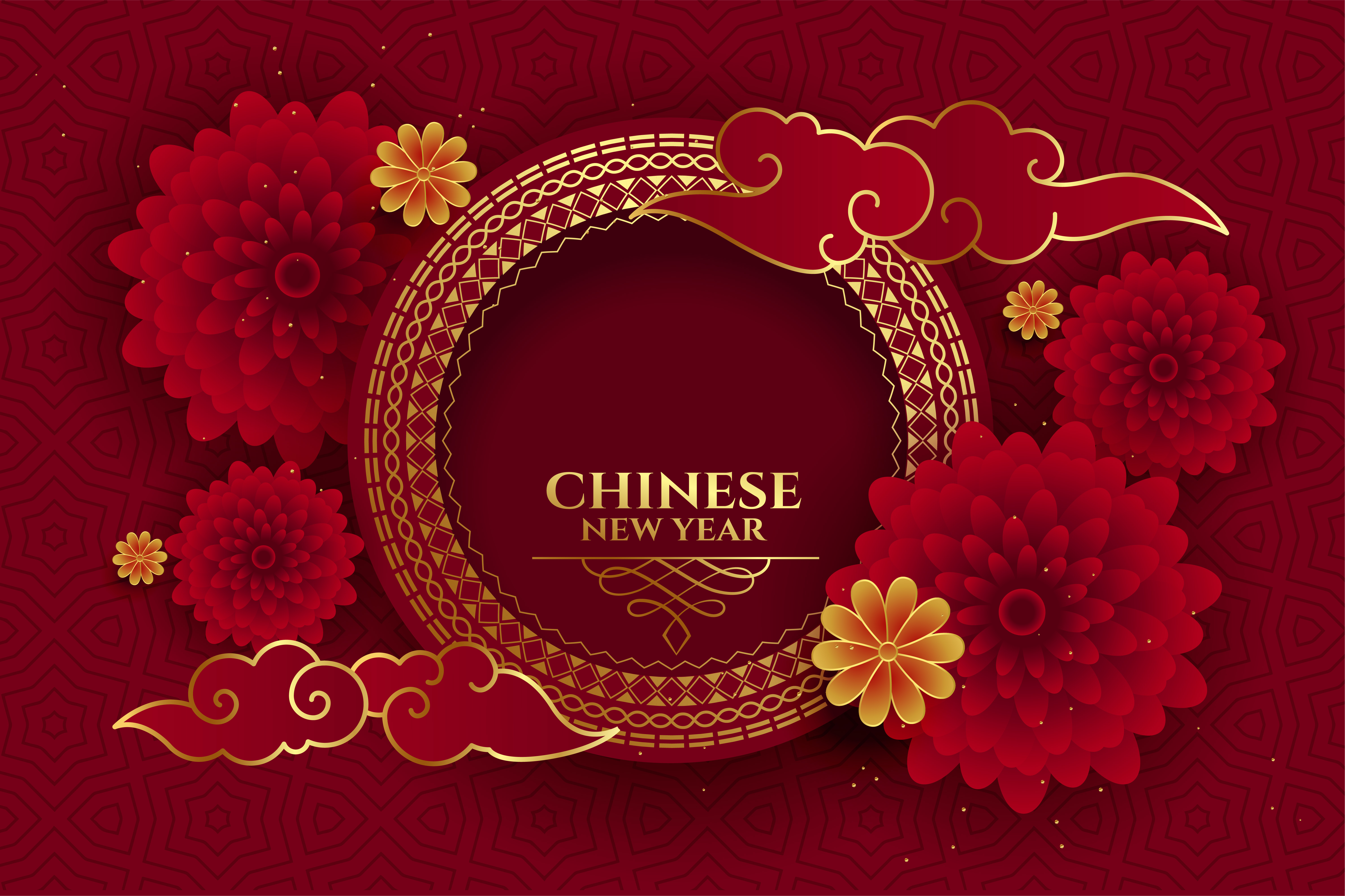 happy chinese new year background with text space
