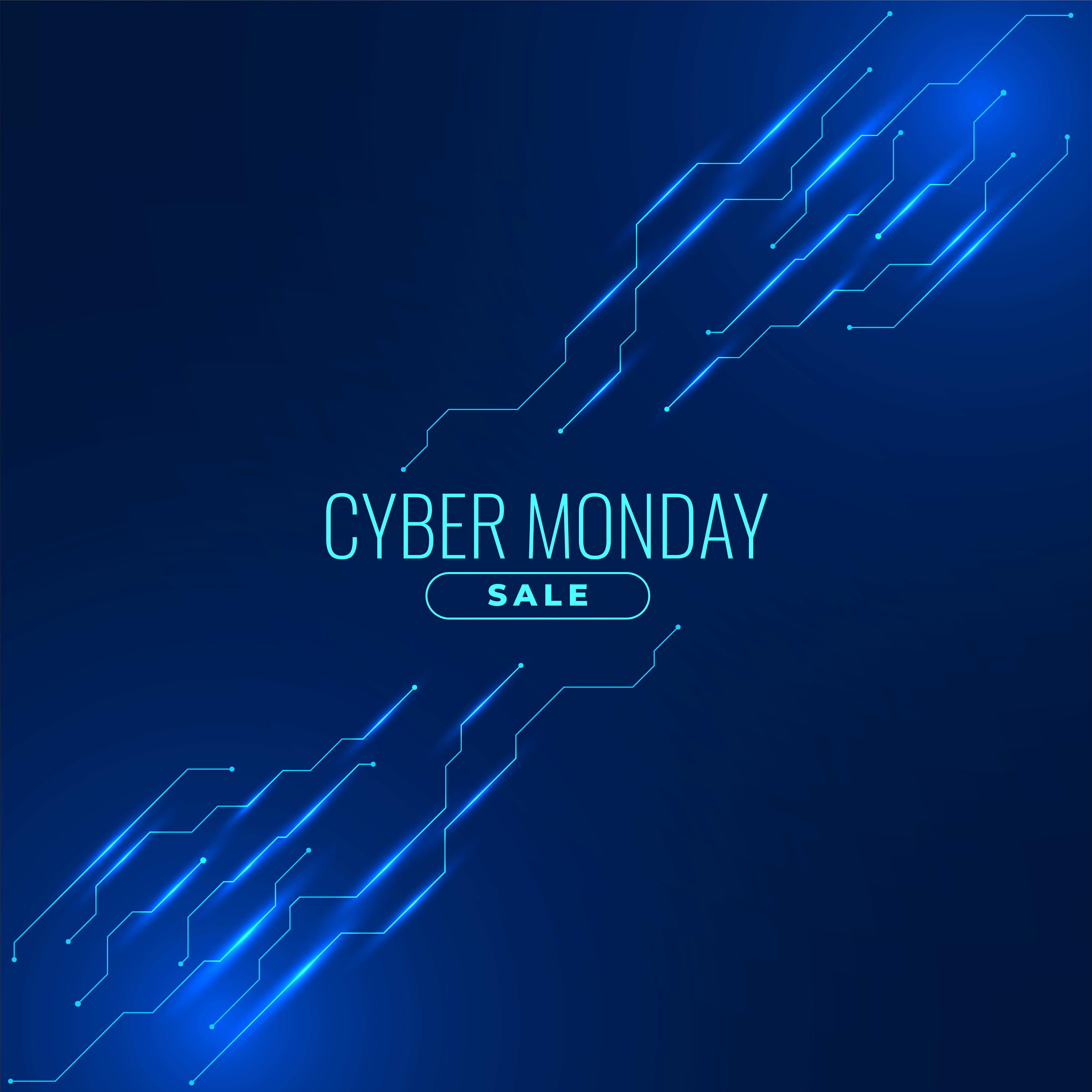 Cyber monday sale background for online shopping